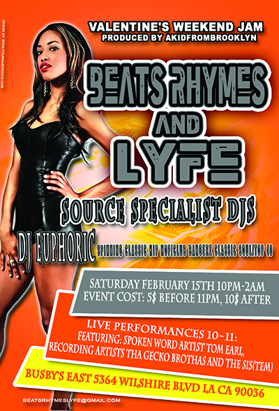 DJ Euphoric spins for Beats, Lyfe & Rhyme at Busby's East