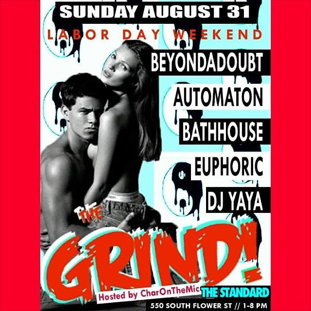 DJ Euphorics spins the 90's Grind Labor Day Party at the Standard DTLA